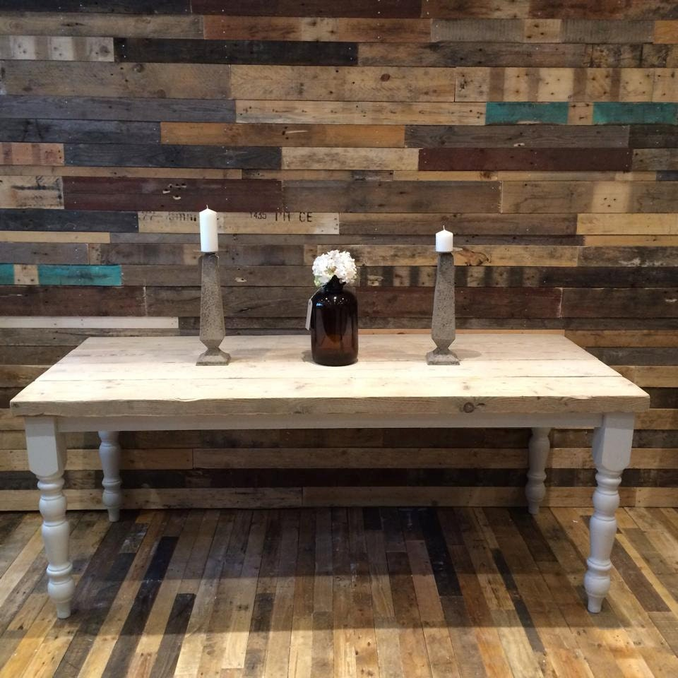 Farmhouse Dining Table With Thick Reclaimed Wood Top Made To