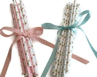 Baby Shower/Girl/Boy Assortment Paper Straws