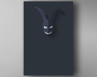 Frank Inspired. Minimalistic. Donnie Darko. Movie Poster. Wall Art.