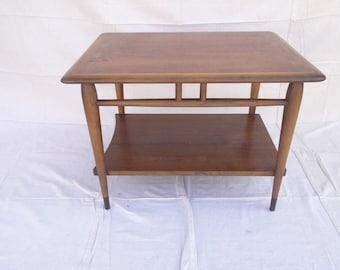 lane danish modern acclaim dove tale lamp end table mid century B