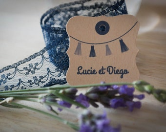 40 custom labels wedding - 3.5 cm