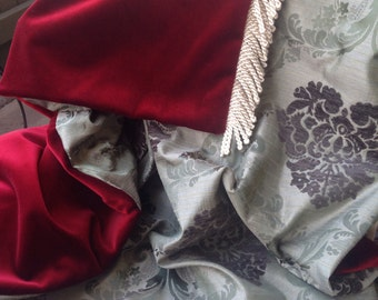 Red and Gray Elegant Throw