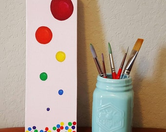 Rainbow Bubbles,  4x12 inch canvas