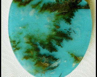 Regency Rose agate  and reconstructed turquoise Doublet Cabochon #9642