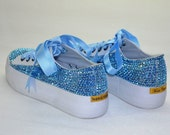 Swarovski sneakers-sparkly sneakers-original crystals-swarovski shoes-bling shoes-Glitter sneakers-Bling sneakers-Swarovski Sneakers Shoes