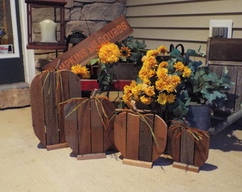Recycled Cedar Pumpkins.