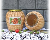 Glass jars for loose, storage jars, cans wicker kitchen