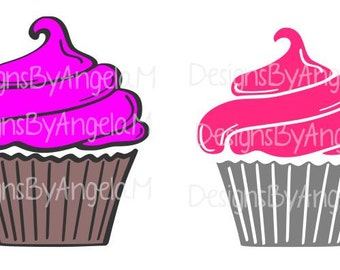 Cupcake  SVG Digital cutting file  Instant Download - Use on your cutting machine Vector File