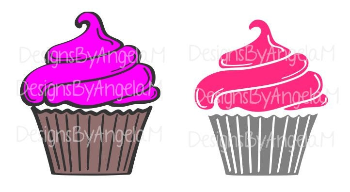 Cupcake Svg Digital Cutting File Instant Download Use On