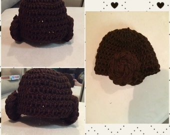 Princess Leia newborn hat :)!