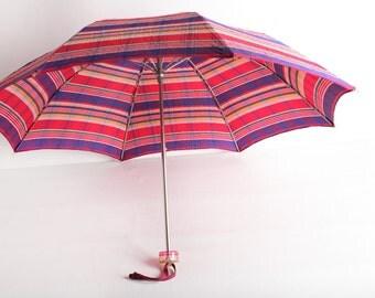 Vintage Red Striped Umbrella
