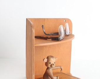 Vintage Small Wooden Corner Shelf