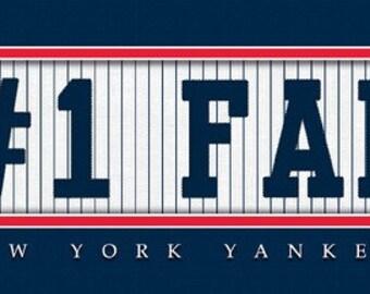 New York Yankees-#1 DAD or #1 FAN Jersey Stitch Framed Print-MLB