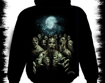 zombie night zipper hoody