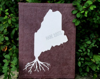 Maine Roots Silhouette Wall Art