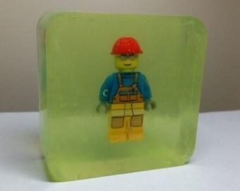 Lego Minifigure organic glycerin soap minifig