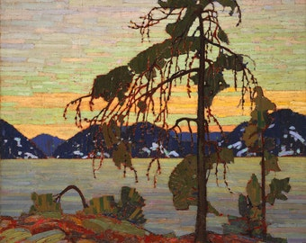 The Jack Pine by Tom Thomson PDF Cross Stitch Pattern Group of Seven
