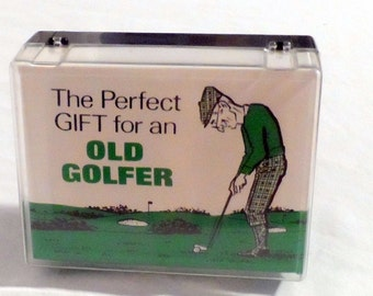 The Perfect Gift for an Old Golfer Joke 1973 Leister Game Co. Golf