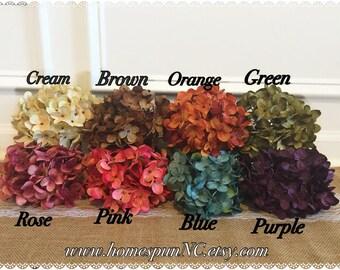 ADD ON- Hydrangea Silk Flower! Mason Jar Decor, Table Decor, Centerpiece Decor