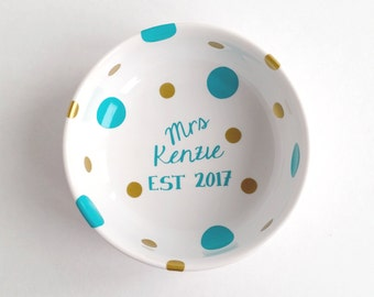 Personalized Ring Dish - Mrs. Dish - Ring Dish
