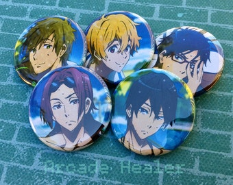 Free! Iwatobi Swim Club Pinback Button Set!