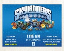 Dark Skylanders Invitation // Skylanders Birthday Party Design // Skylanders Digital File Design PE846
