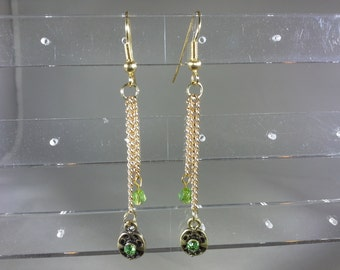 lime green dangles