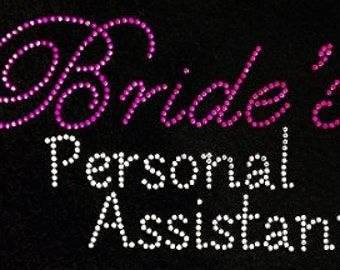 Bride personal assistant  bling shirt