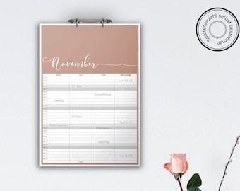 Family Calendar 'MELIKA', planar // A3