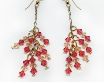 Swarovski Crystal Twig Earrings