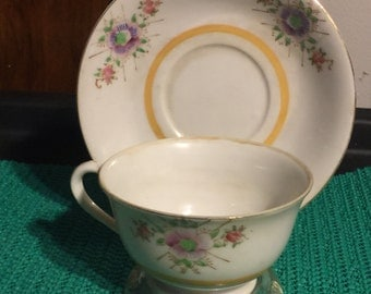 1945 - 1952 Nasco Primrose Fine Bone China Cup and Saucer - Made in Occupied Japan (X1)