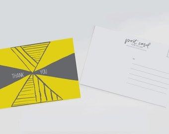 Thank You Postcard • Postcard Set • Thank you Card • Stationery • Stationery Set •Notecard •Thank You Note • Thank You Card Set