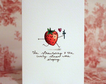 Cute Strawberry Valentine's Card