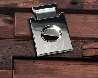 Personalised square and polished cigar cutter
