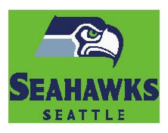 Seattle Seahawks inspired, seahawks blanket, crochet graph, seahawks throw, seahawks graphghan, seahawks crochet pattern, seahawks  pattern