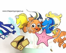 Free Shipping - 10 Finding Nemo / Dory Centerpiece | Fish tank friends | Nemo, Dory birthday party or baby shower decoration | Disney party!