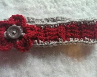 crochet newborn ohio state headband