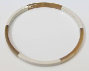 Horn & Lacquer Bangle Bracelet-V16W