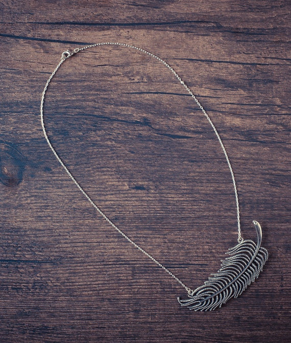 Fallen Angel Feather Necklace