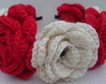 Headband With Crochet Flowers plus PRESENT