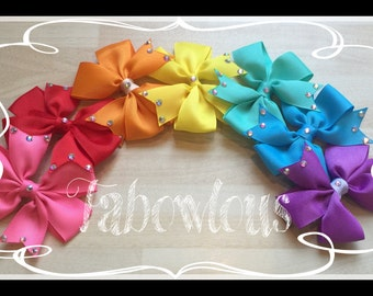 A RainBow of Bows Hair Clips