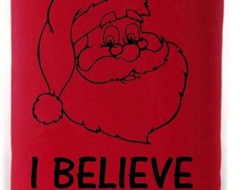I Believe Ill have a Beer Santa Christmas Can Holder