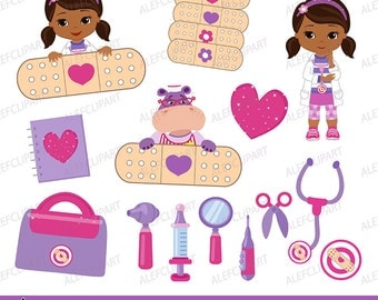 50% OFF SALE Clip art, Doctor Clipart, Doctor Clip Art, Little Doctor Clipart, Doc McStuffins Clipart, Doc McStuffins Clip Art