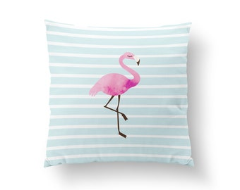 Flamingo Pillow, Kids Pillow, Home Decor, Cushion Cover, Throw Pillow, Bedroom Decor, Bed Pillow, Decorative Pillow, Nursery Decor, Animal