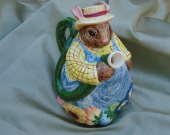 Vintage, Wonderful Gardening Rabbit, Pitcher