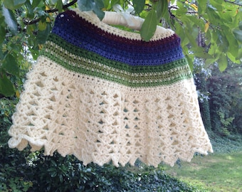 Blues and Greens Poncho