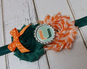 Miami Hurricanes elastic headband - baby - child - adult
