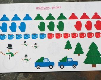 It's Cold Outside Stickers for Erin Condren Life Planner, Plum Paper Planner, Filofax, Kikki K, Calendar or Scrapbook SH-103
