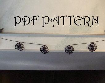 Crochet Cobweb Garland PDF Pattern