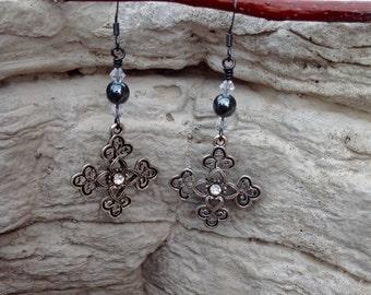 Cross Earrings, One-of-A-Kind